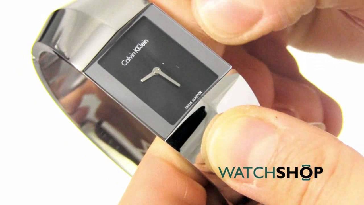 57b17edf3 Calvin Klein Ladies' Shape Watch (K7C2M111) - YouTube