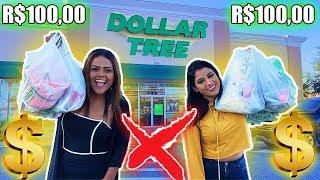 DESAFIO DOS 100 REAIS NA LOJA DE 1 DOLAR !!!