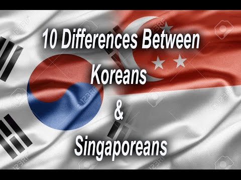 10 Differences Between Koreans and Singaporeans