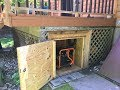 How to make a Generator Shed. DIY Generator Storage Box under the deck