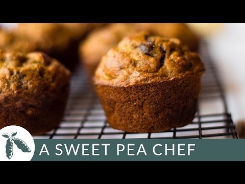 Healthy Banana Chocolate Chip Muffins | A Sweet Pea Chef