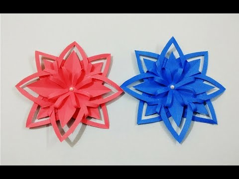 DIY Easy and Simple Paper Flower for Wall Decorations | Paper Snowflakes | Craftastic
