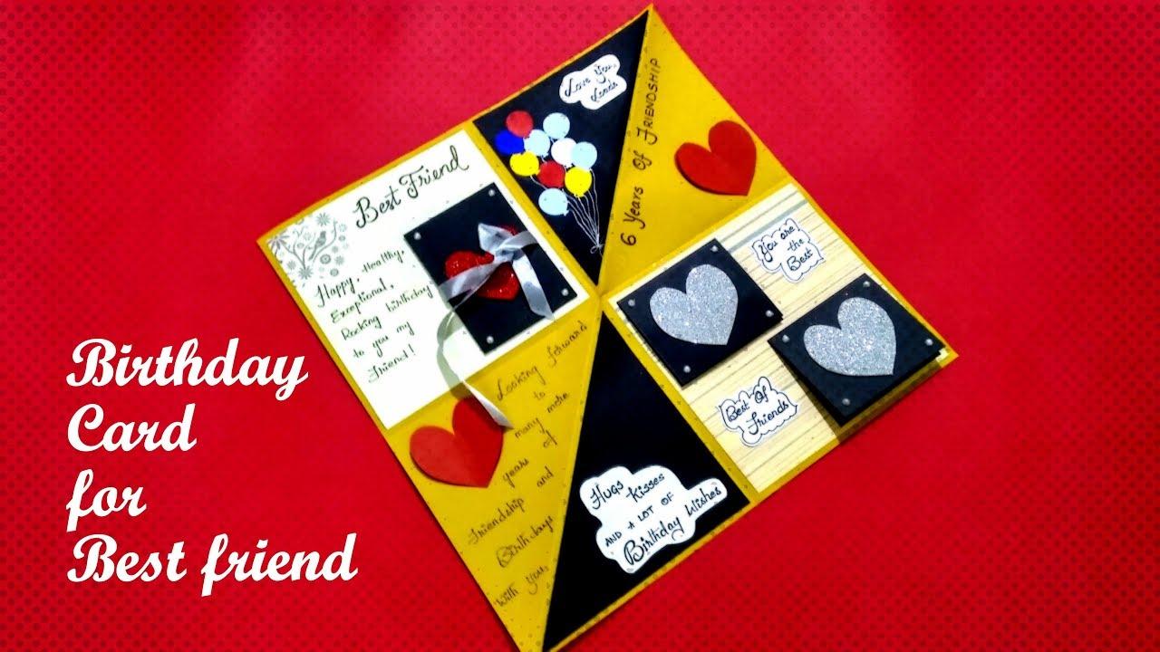 Beautiful Birthday Card For Best Friend Diy Card For Best Friend How To Make Birthday Card I Youtube
