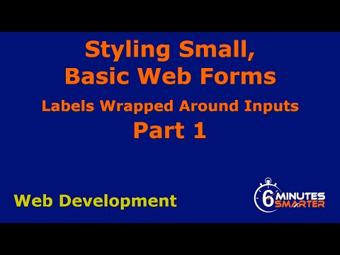 Styling Small, Basic Web Forms - Part 1