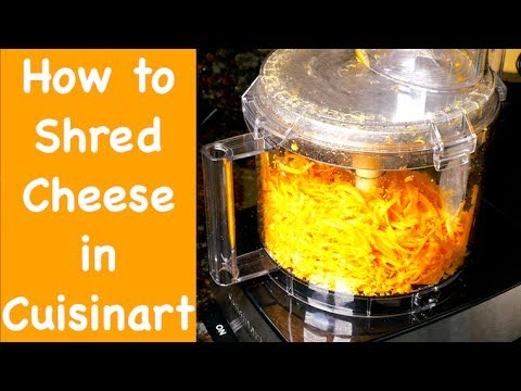 Cuisinart 14 Cup Food Processor Shredding Cheese