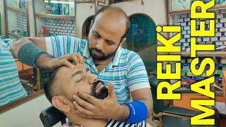Reiki master relaxing head massage with neck cracking #indianbarber #indianmassage
