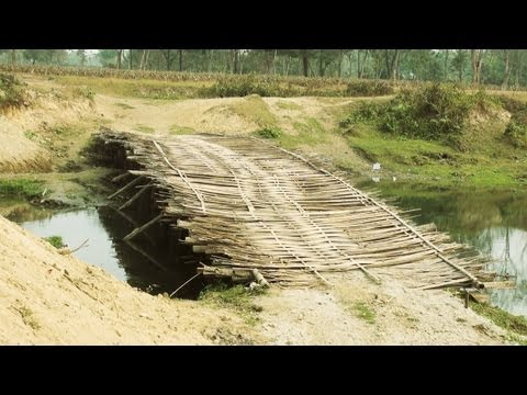 Bamboo Bridge near Manas, Assam
