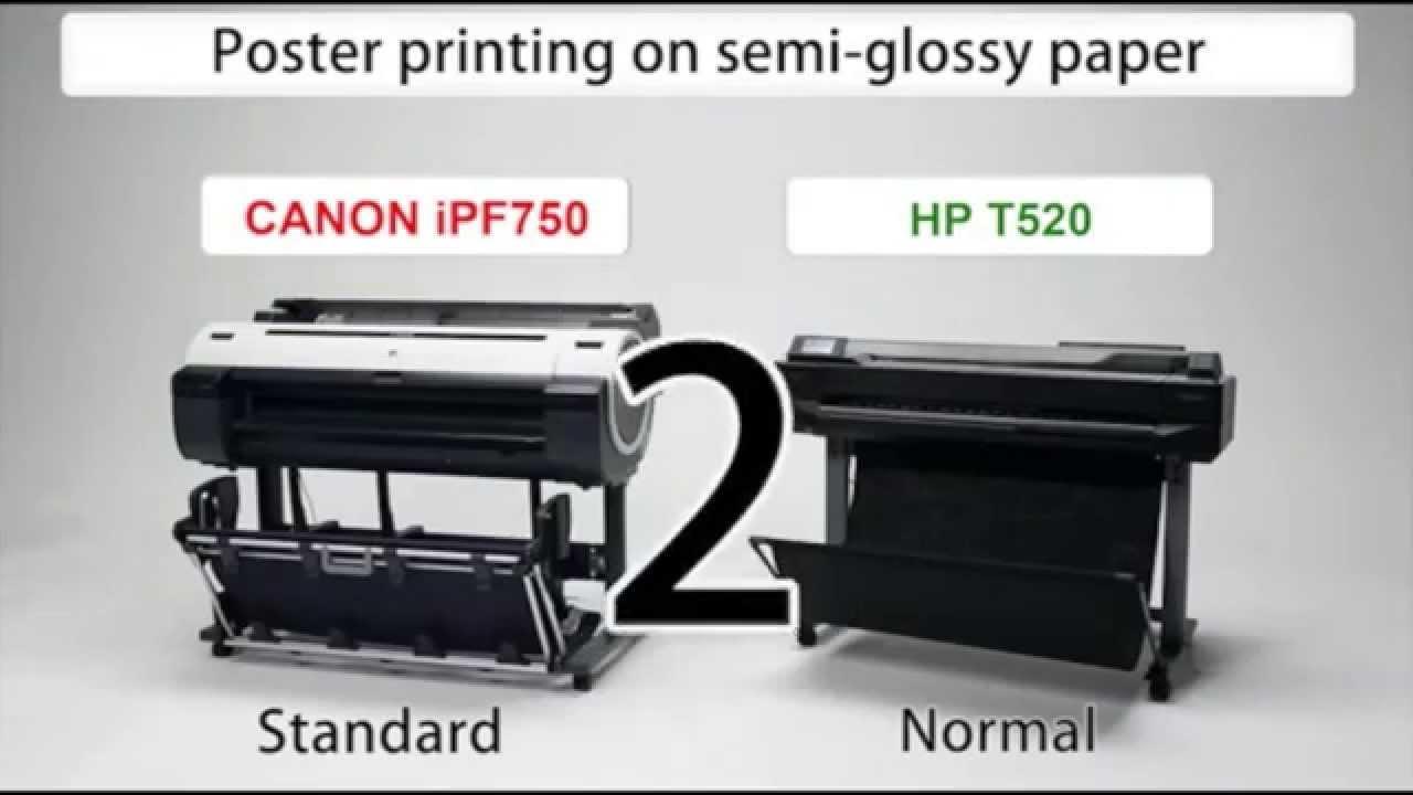 DJ520 vs iPF605 Head To Head Plotter Review - YouTube