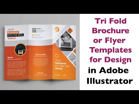Tri Fold Brochure Template and Flyer Templates for Design - Urdu & Hindi
