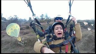 Manali paragliding || Funny Video || Maut ko ttakk se chuhke wapis aaney wali video 😜 ||