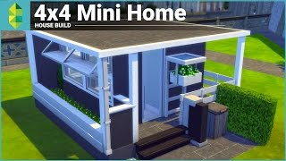 The Sims 4 House Building - 4x4 Mini Home(If a 5x5 was possible with room to spare, let's go smaller! Download: https://www.thesims.com/en_AU/gallery/F37616B0B09711E58BB9BCD67EAF595D 5x5 ..., 2016-01-03T17:08:17.000Z)