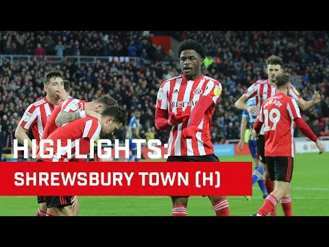 Highlights: Sunderland v Shrewsbury Town