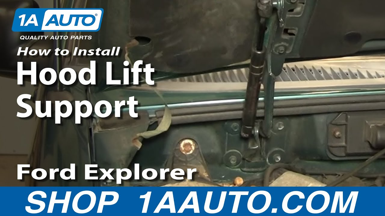 How To Install Replace Sagging Hood Strut Support Ford ...