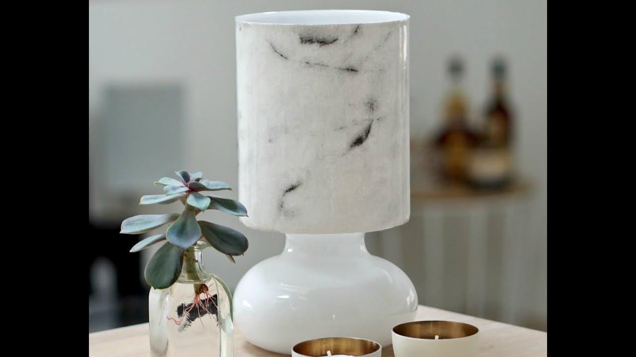 item round base lamp white diameter marble