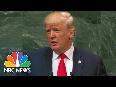 President Donald Trump Puts World Leaders On Notice, Slams 'Globalism' In U.N. Address | NBC News