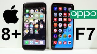 Oppo F7 Vs iPhone 8 Plus Speed Test