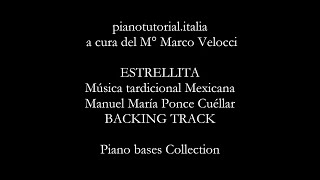 ESTRELLITA - Manuel María Ponce Cuéllar - BACKING TRACK - Piano bases Collection