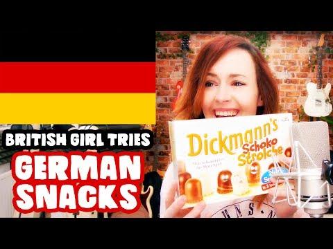 BRITISH GIRL TRIES GERMAN SNACKS