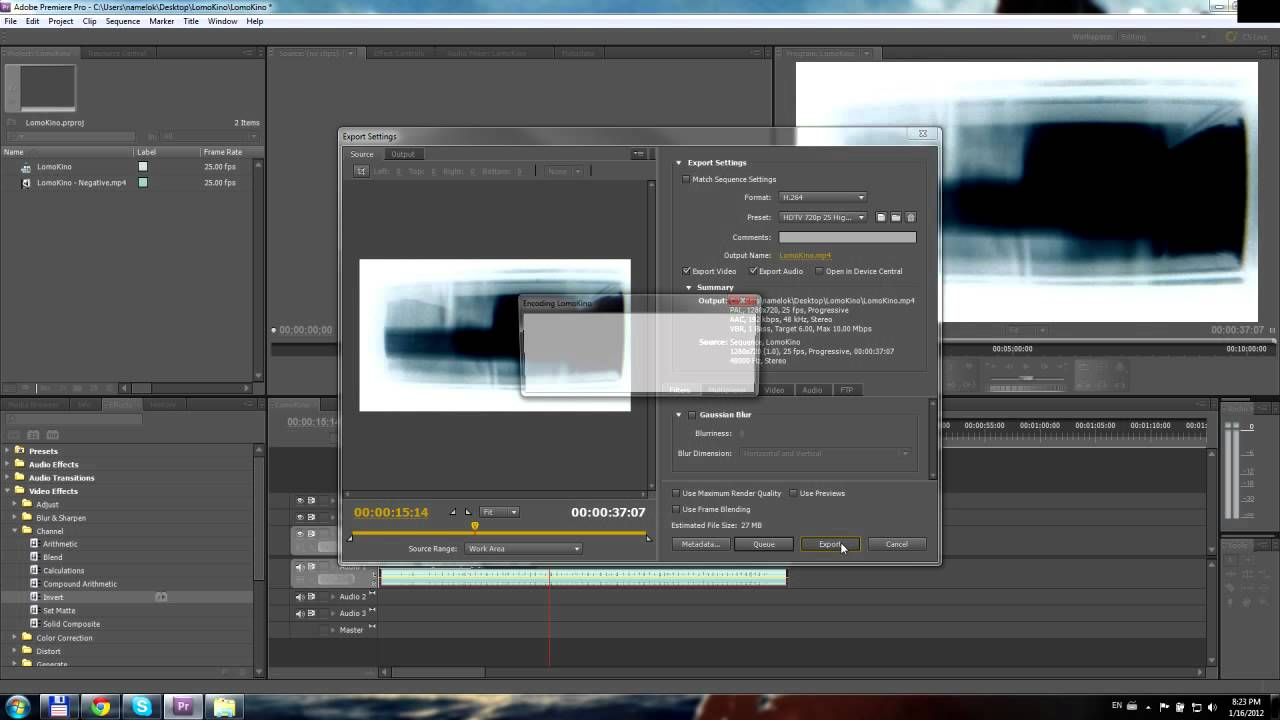 Invert color jpg online - How To Invert A Movie Using Adobe Premiere Cs5