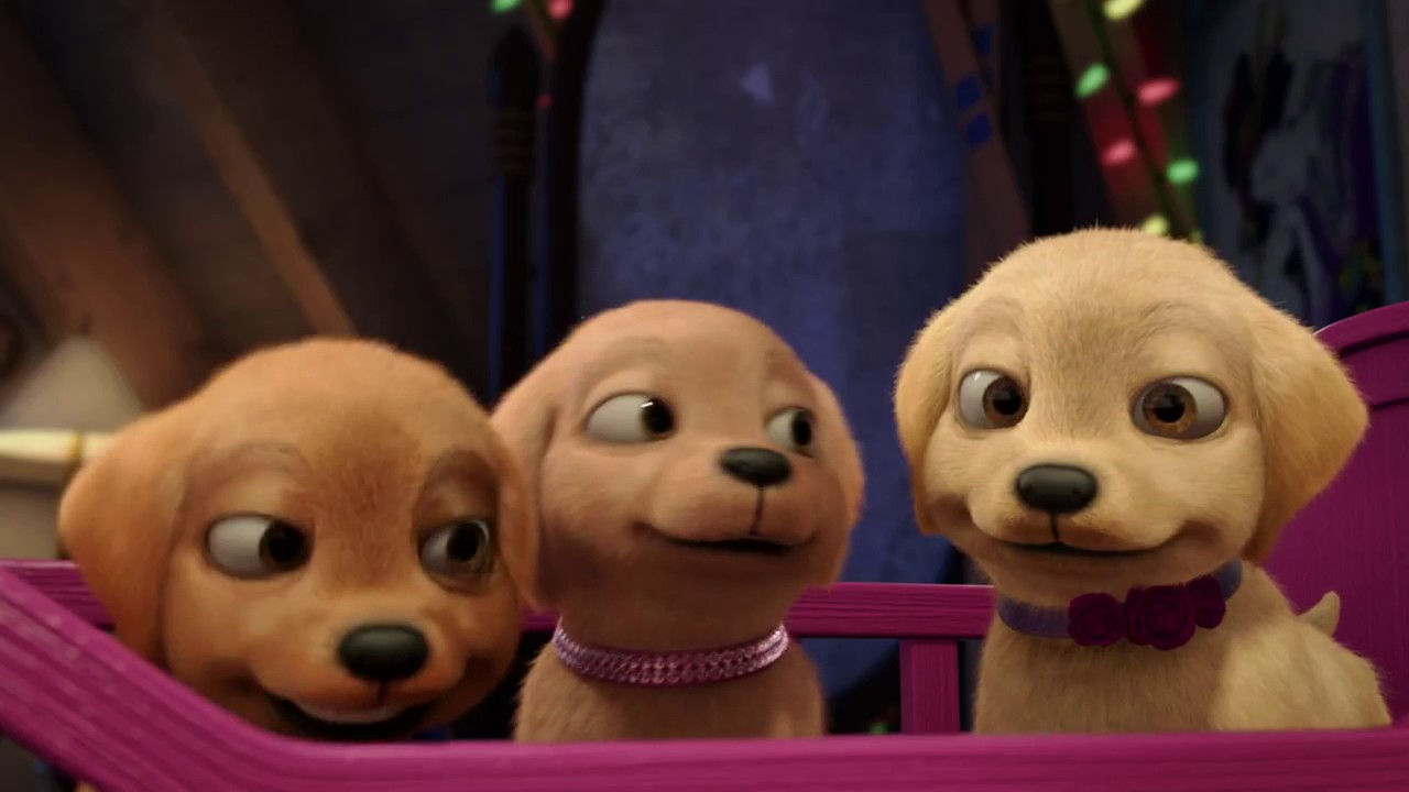 """""""Барби и щенки в поисках сокровищ """" Ролик анонс - YouTube"""