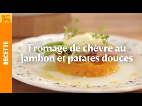 Fromage de chèvre au jambon et patates douces