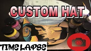 Custom Hat Summer Evening Time Lapse Video Using Angelus Paint