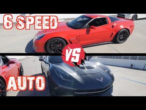 Manual VS Flappy Paddles! C6Z Corvette Battles Procharged C7 and Nissan GTR
