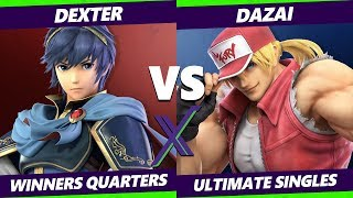 Smash Ultimate Tournament - Dexter (Marth) Vs. Dazai (Terry, Roy) S@X 338 SSBU Winners Quarters