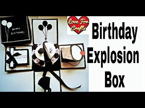 Birthday Explosion Box | How to Make Explosion Box