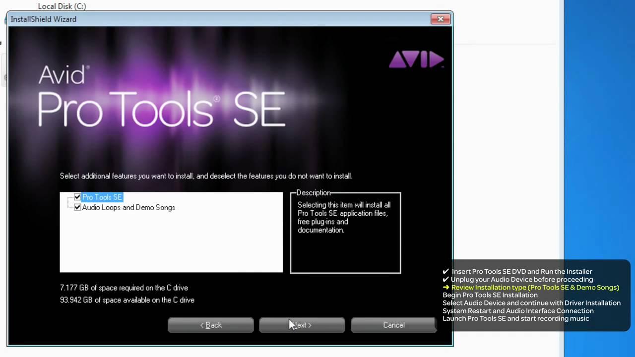 Pro Tools® SE Installation - Windows 7- Troubleshooting