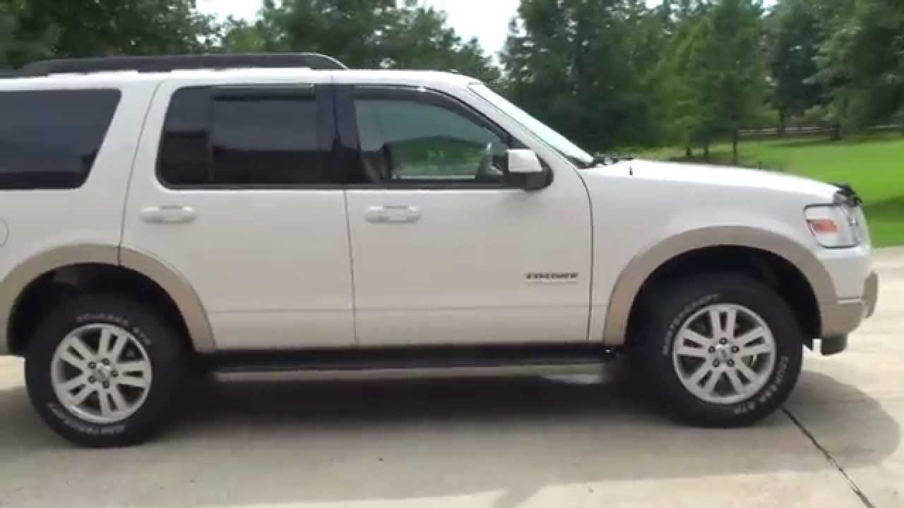 Hd video 2008 ford explorer eddie bower white used for sale see www sunsetmotors com youtube