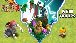 Clash of Clans NEW TROOP - Giant Skeleton Halloween Update! CoC New Troop Attacks!