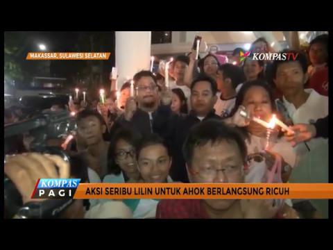 Aksi Solidaritas 1.000 Lilin untuk Ahok Ricuh di Makassar