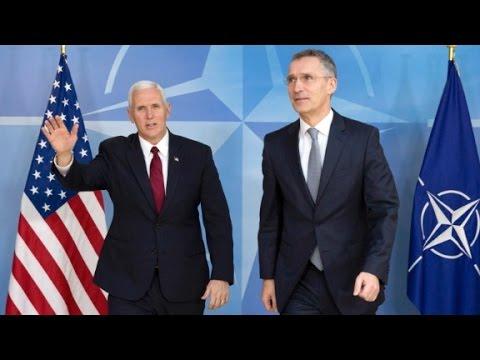 Pence tries to reassure European allies