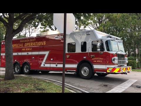 "Palm Beach County FL Fire-Rescue Companies Responding ""Cold"" to Various Incidents"