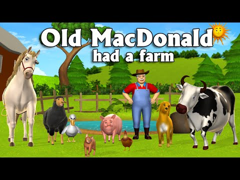 Old MacDonald Had A Farm  3D Animation English Nursery Rhymes & Songs for children