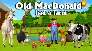 Old MacDonald Had A Farm 3D Animation English Nursery Rhymes Songs For Children