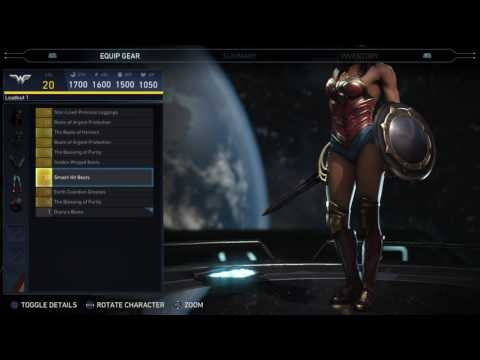 Injustice 2 - Wonder Woman Epic Gear Showcase/ Special Moves