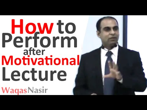 How to Perform after Motivational Lecture -By Qasim Ali Shah  | In Urdu