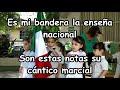 Toque de bandera Cantado Preescolar Kinder Honores Se levanta en el mástil