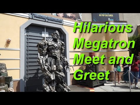Transformers Megatron Hilarious Interactive Meet and Greet at Universal Studios Hollywood