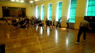 Table Tennis - foot work for the beginners (monkey dance) - Summer camp in Rucava