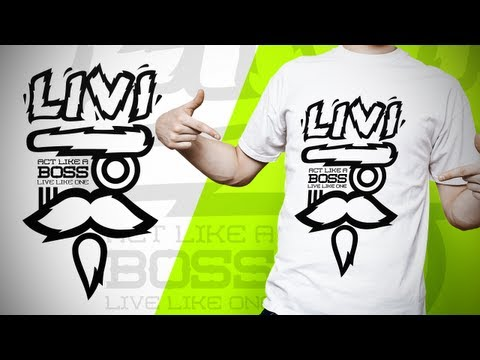 "Swerve™ Graphic designer: Speedart | ""LIVI Boss"" T-shirt Design Illustration by Swerve Designs"