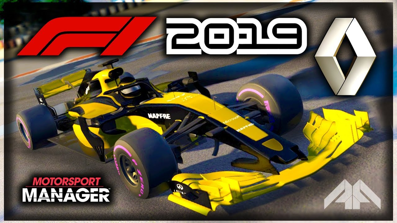 molto carino df52d 316f1 F1 2019 Renault Manager Career! - Motorsport Manager PC