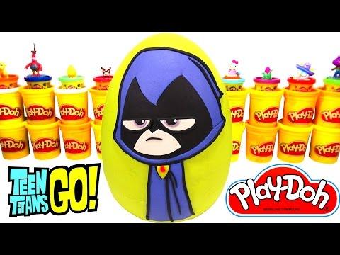 Teen Titans Go Raven Sürpriz Yumurta Oyun Hamuru - LPS MLP Zelf Hello Kitty Cicibiciler