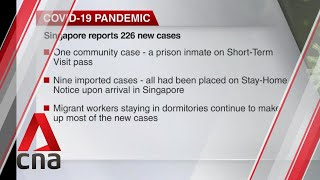 Singapore reports 226 new COVID-19 cases