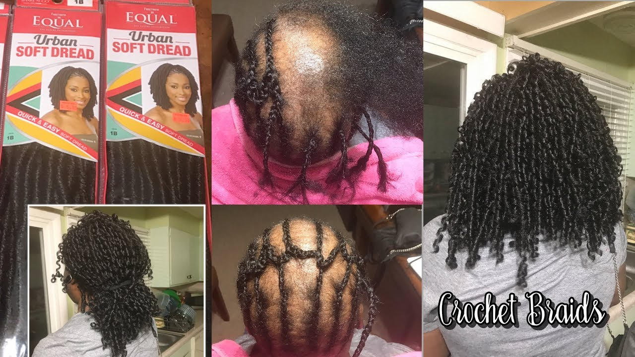 HOW TO DO  CROCHET BRAIDS WITH ALOPECIA  EQUAL URBAN SOFT DREAD  YouTube