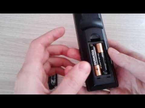 Как вставить батарейки в пульт