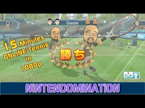 WiiU - Wii Sports Club - 15 Minutes Online Tennis Gameplay