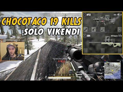 CHOCOTACO SOLO 19 KILLS GAME ON VIKENDI MP5 + AWM | PLAYERUNKNOWN'S BATTLEGROUNDS (5/27/19)